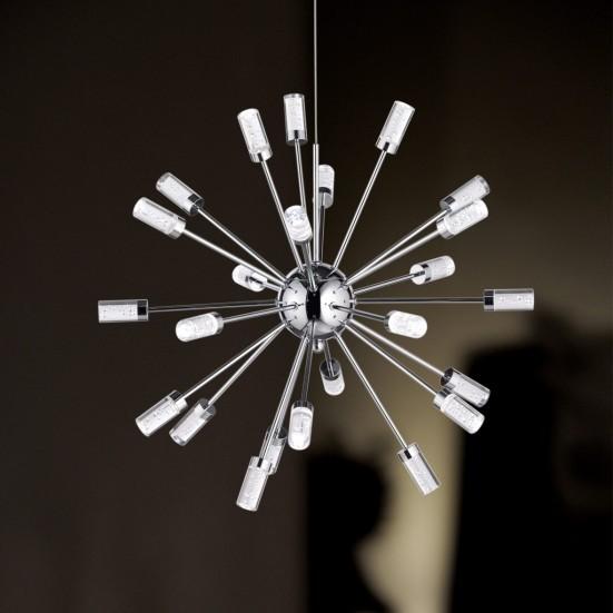 Cleo - Stropní osvětlení, LED (chrom)