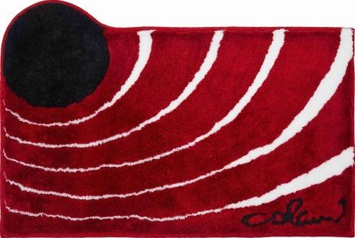 Colani 2 - Koupelnová předložka 60x100 cm (červená)