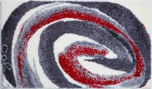 Colani 42 - Koupelnová předložka 70x120 cm (šedá červená)
