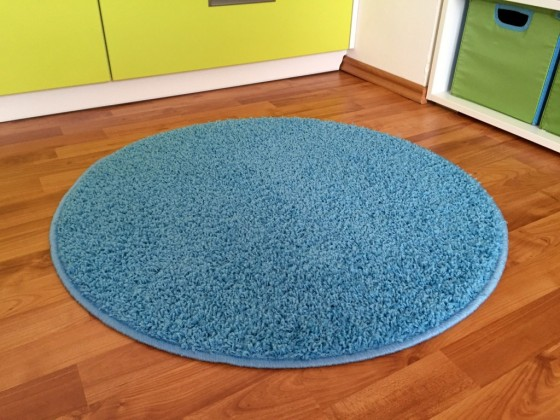 Color Shaggy - Koberec, 120 cm (světle modrá)