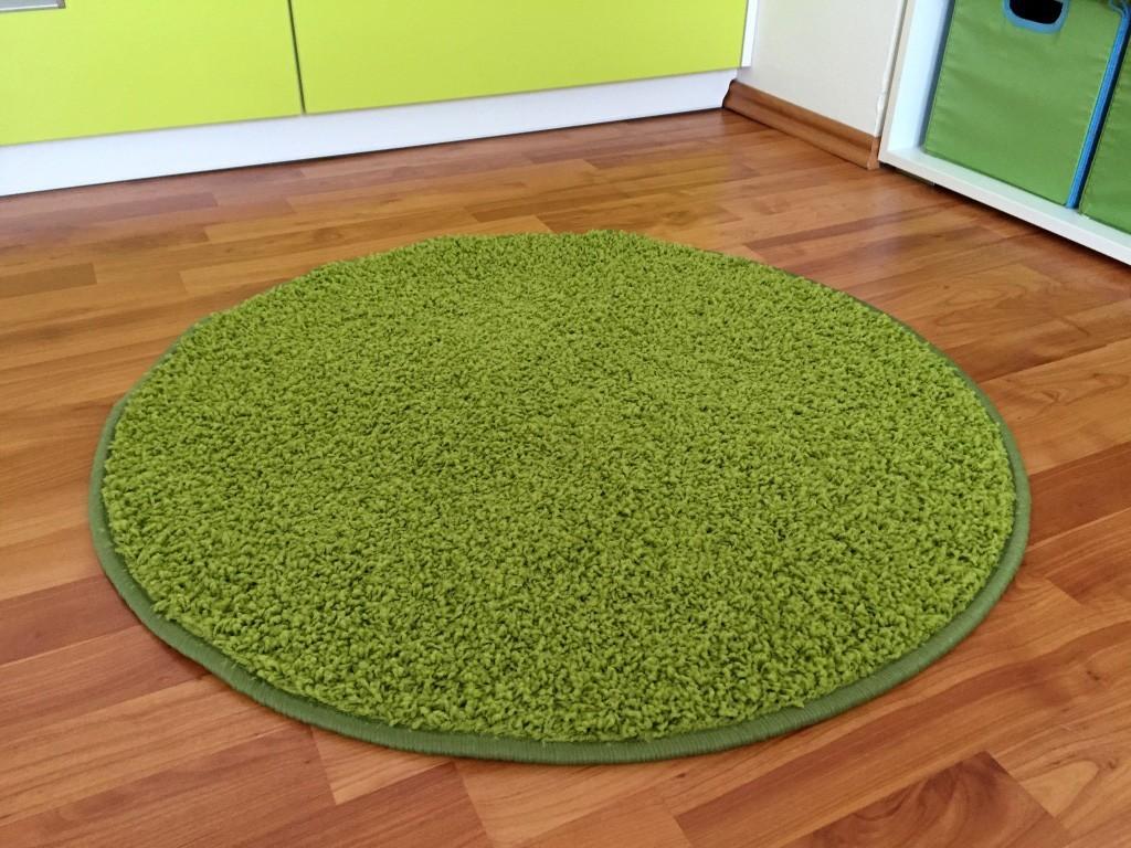 Color Shaggy - Koberec, 120 cm (zelená)