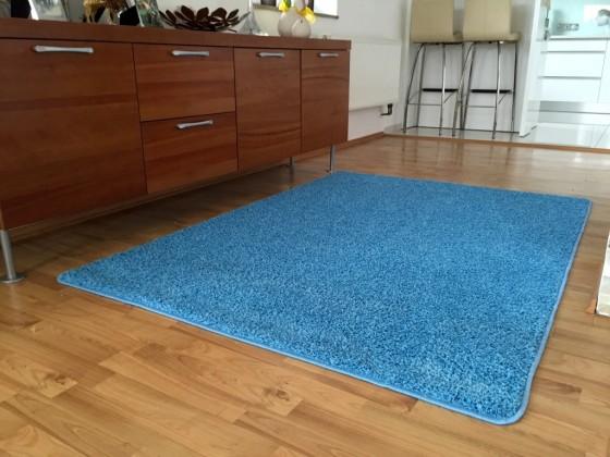 Color Shaggy - Koberec, 140x200 cm (světle modrá)