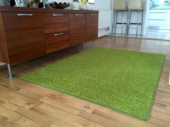 Color Shaggy - Koberec, 140x200 cm (zelená)