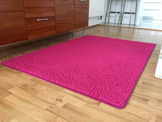 Color Shaggy - Koberec, 160x240 cm (růžová)