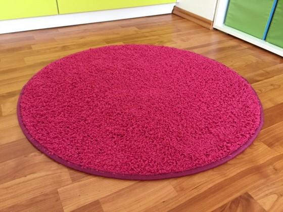 Color Shaggy - Koberec, 80 cm (růžová)
