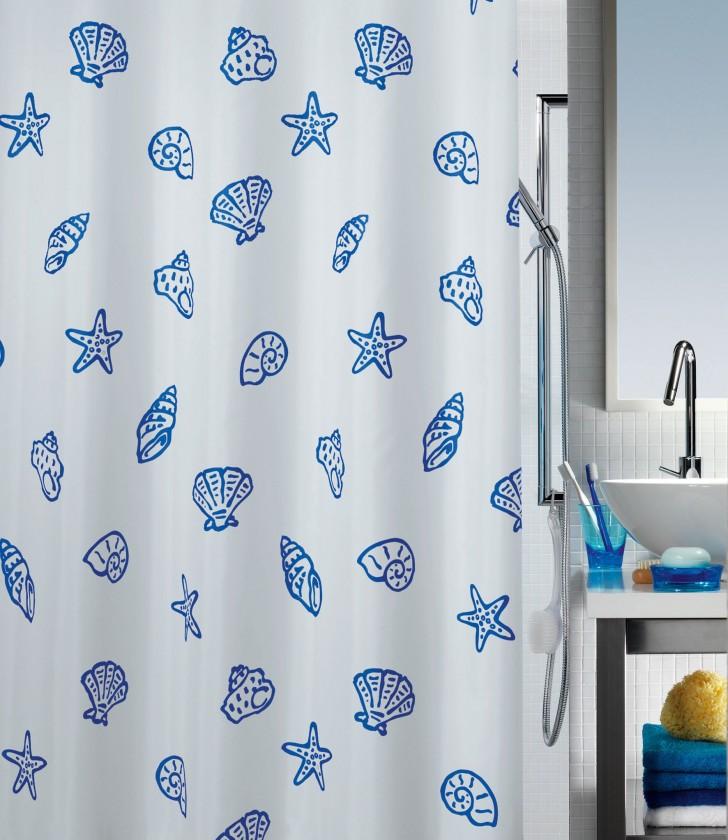 Concha-Sprchový závěs 180x200 cm(modrá)