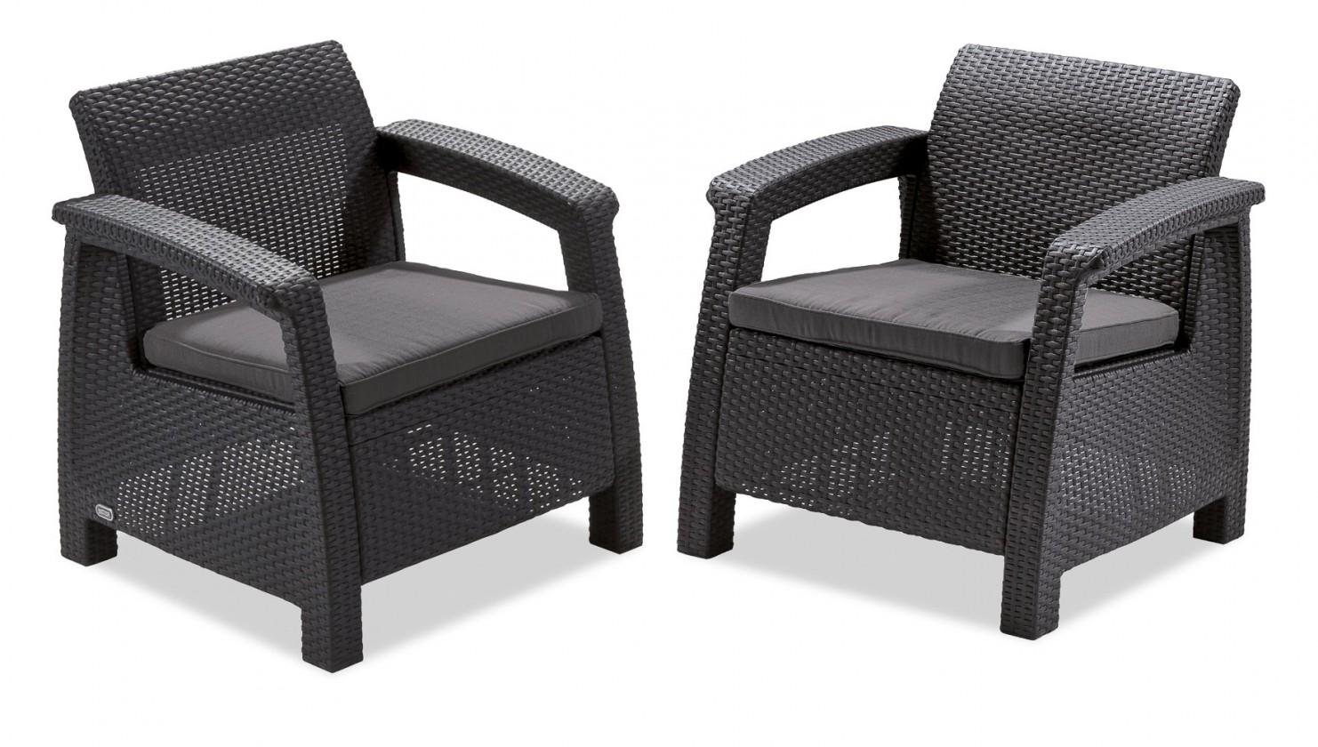 Corfu II - Set Duo (černá, šedá)