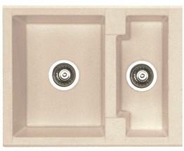 Cubo 20 - Dřez, včetně sifonu, 1 a půl vaničky (granit, terra)