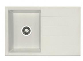 Cubo 30 - Dřez, včetně sifonu (granit, bílá)