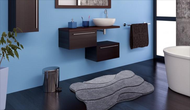 Curts - Koupelnová předložka 60x100 cm (šedá)