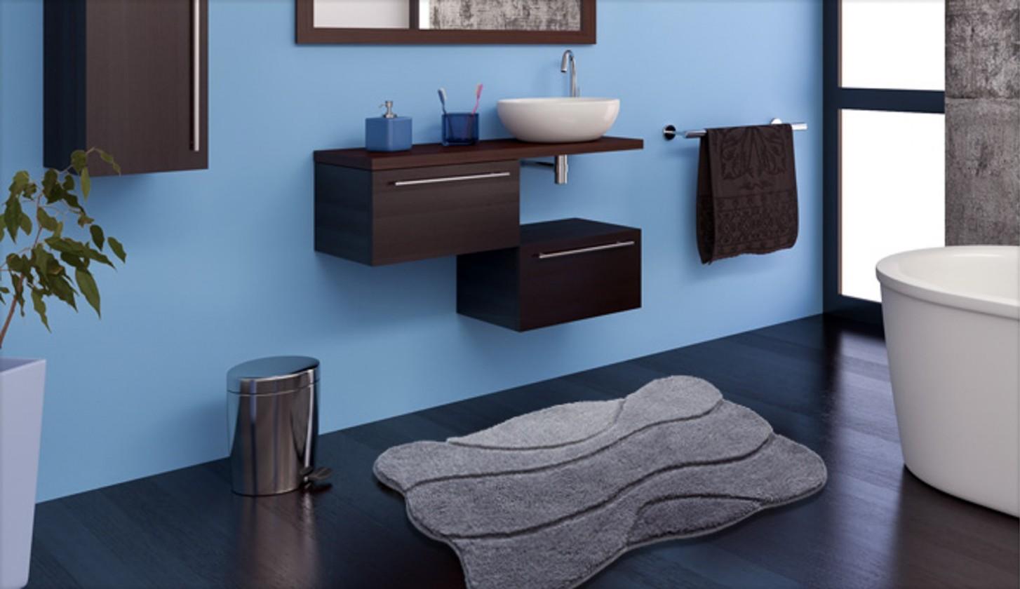 Curts - Koupelnová předložka 70x120 cm (šedá)