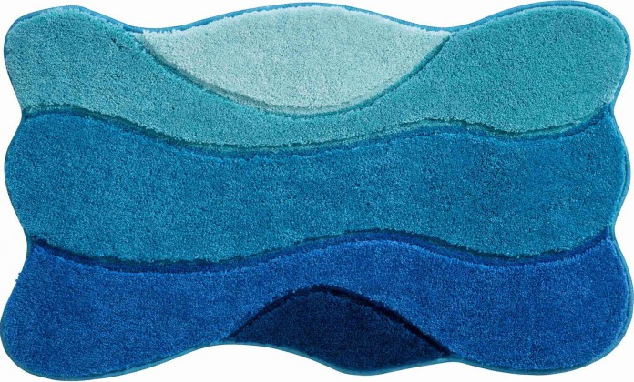 Curts - Koupelnová předložka 80x140 cm (modro-tyrkysová)