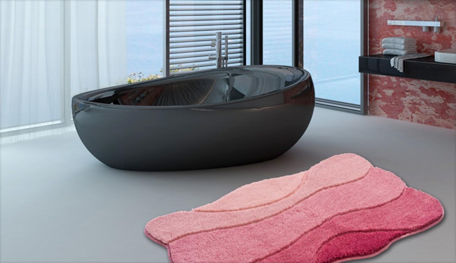 Curts - Koupelnová předložka 80x140 cm (růžová)