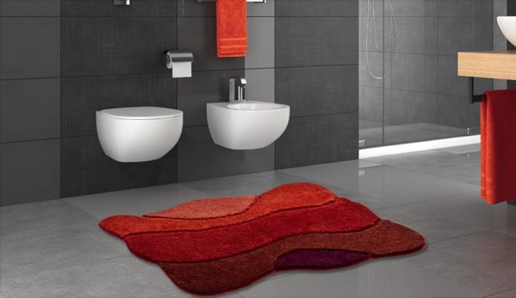 Curts - Koupelnová předložka 80x140 cm (teplá červená)