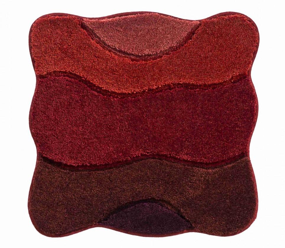 Curts - Koupelnová předložka malá 60x60 cm (teplá červená)
