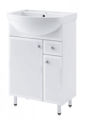 Dallas - Skříňka s umyvadlem 55cm (bílá)
