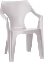 Dante - Židle, lowback (bílá)