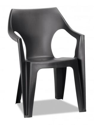 Dante - Židle, lowback (černá)