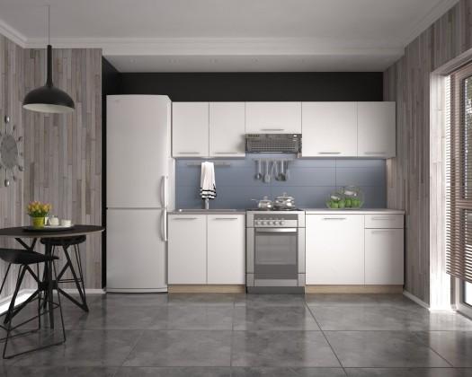 Daria 240 - Kuchyňský blok, 240 cm (bílá, dub sonoma)