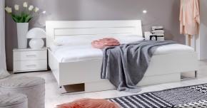 Davos - Komplet 3, postel 180 cm (alpská bílá)