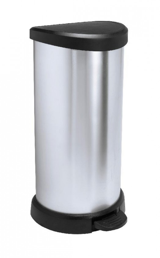 DECOBIN, 40l (plast,černo-stříbrná)