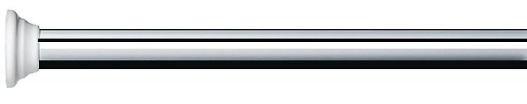 Decor-Tyč  BRIGHT, 125-220(stříbrná)