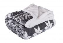 Deka s beránkem DB01 (150x200 cm, šedá, zima)