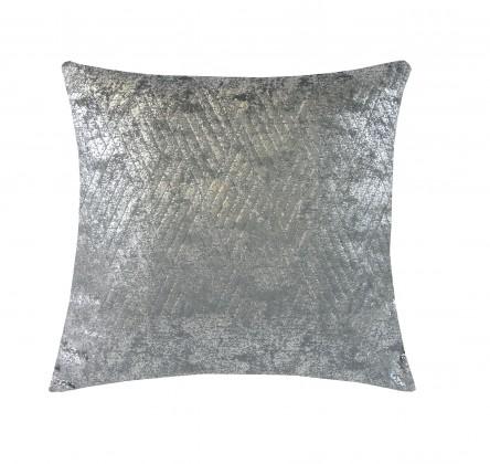 Dekorační polštáře Polštář DP153 (45x45 cm, tmavě šedá, stříbrná)
