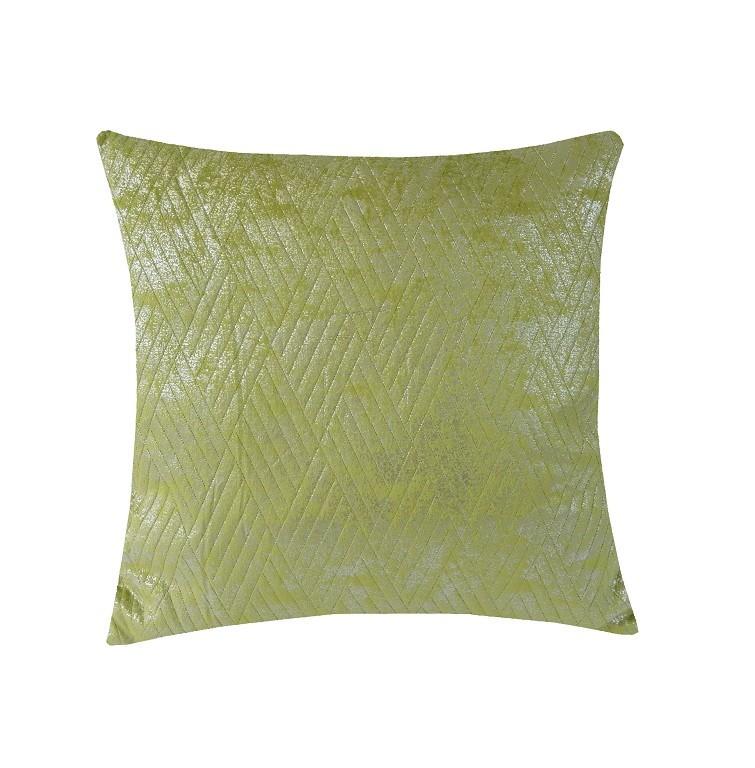 Dekorační polštáře Polštář DP158 (45x45 cm, zelená, stříbrná)