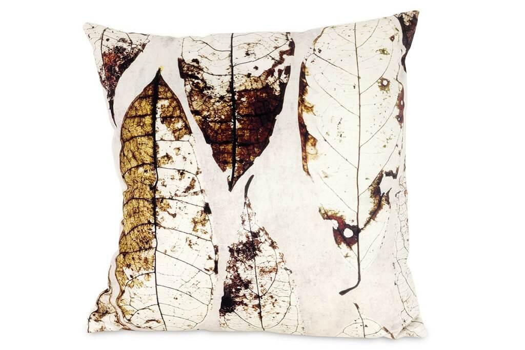 Dekorační polštáře Polštář Listy (45x45 cm, krémová)