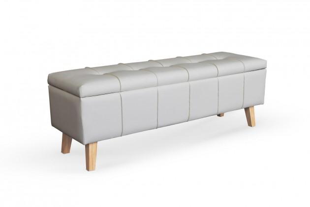 Designové taburety Kožený taburet Arlon obdélník bílá ÚP