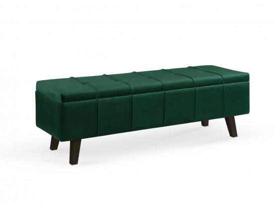 Designové taburety Taburet Arlon obdélník zelená ÚP (látka)