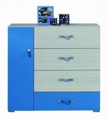 Dětská komoda Komi KM 8 (Modrá)