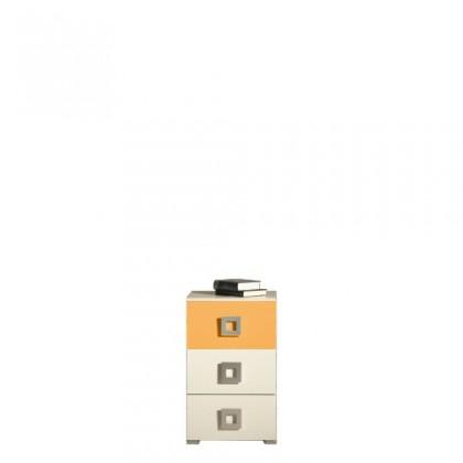 Dětská komoda LABYRINT LA 9 (krémová/oranžová)