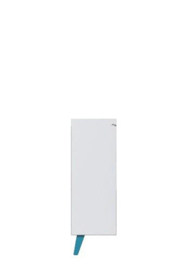 Dětská komoda SAJMON SJ 11 L/P (modřín/bílá lesk/tyrkysová)