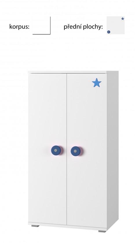 Dětská komoda Simba 8(korpus bílá/front bílá a modrá)