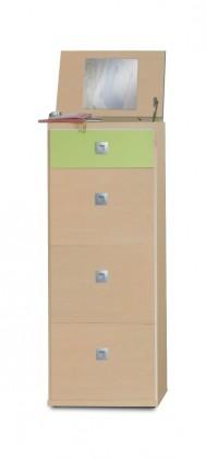 Dětská komoda Sunny - Komoda, 46 cm (zelené jablko/alpská bílá)