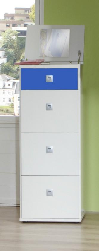 Dětská komoda Sunny - Komoda (alpská bílá s modrou, 46x121x40 cm)