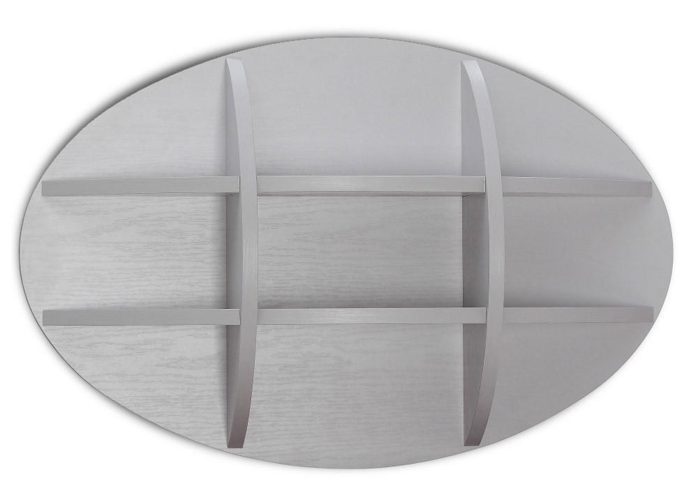 Dětská police Dreamliner - Polička (dub šedý/bílá vysoký lesk)