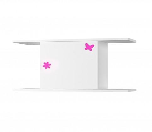 Dětská police Simba 14(korpus bílá/front bílá a růžový motýlek)
