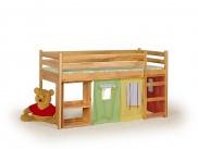 Dětská postel Emi - zvýšená, včetně matrace (borovice)