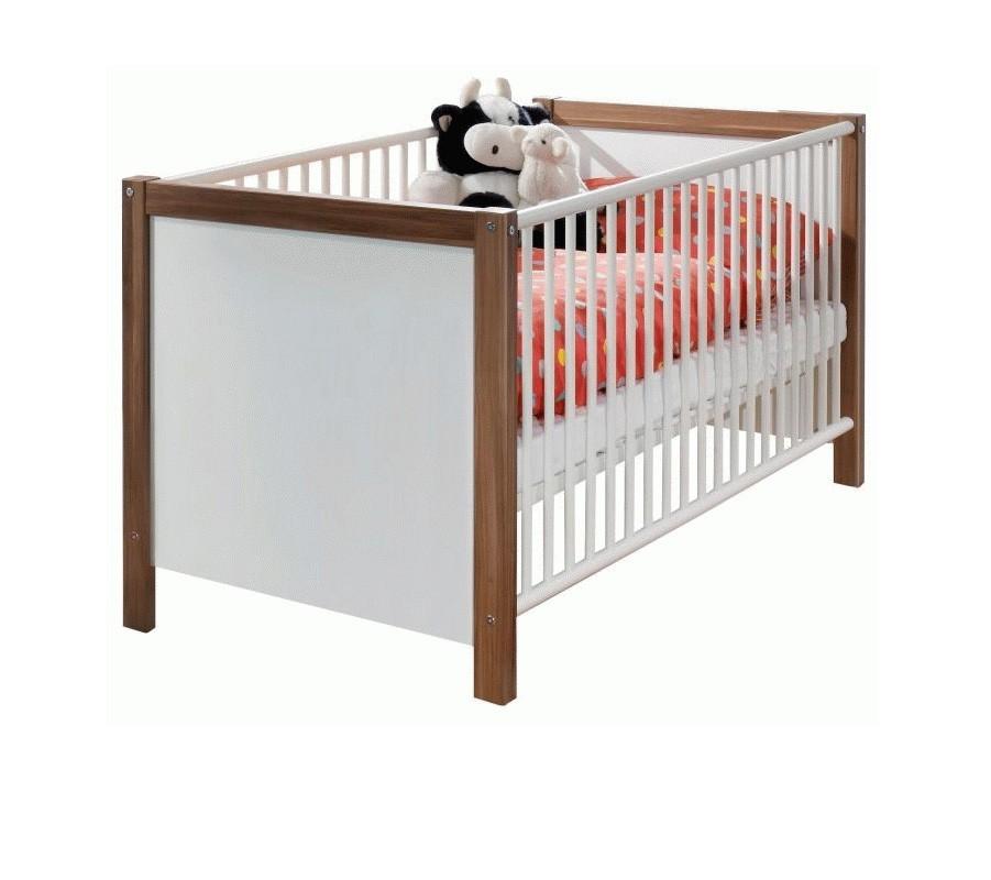 Dětská postel Jette - 317224 (alpská bílá / ořech vlašský)