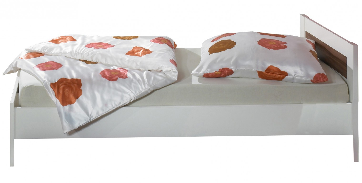 Dětská postel Jette - 317299 (alpská bílá / ořech vlašský)
