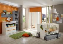 Dětská sestava Bibi - Set 2 (alpská bílá/oranžová)