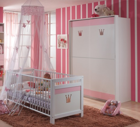 Dětská sestava Cinderella - Set 1 (bílá, růžová)