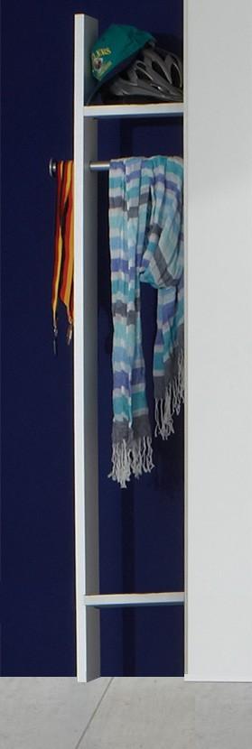 Dětská skříň Bibi - Šatník (alpská bílá, modrá)