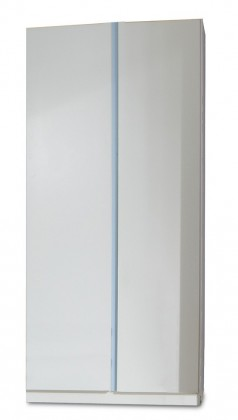 Dětská skříň Bibi - Skříň, dvoudveřová (alpská bílá, modrá)