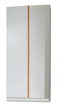 Dětská skříň Bibi - Skříň, dvoudveřová (alpská bílá, oranžová)