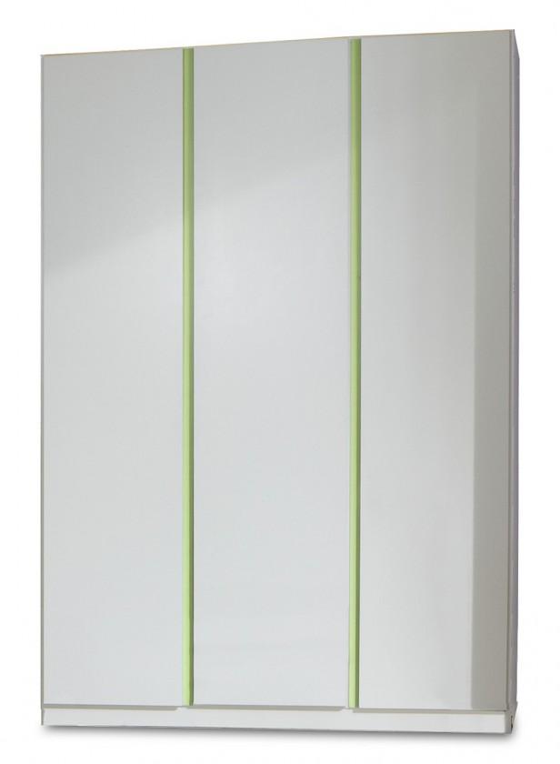 Dětská skříň Bibi - Skříň, třídveřová (alpská bílá, zelené jablko)