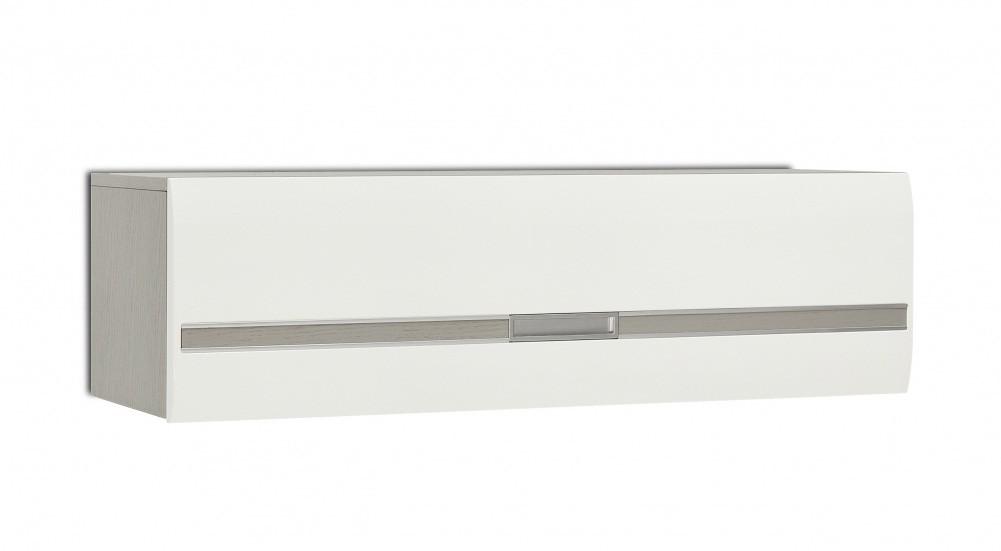 Dětská skříň Dreamliner - Závěsná horní skříňka (dub šedý/bílá vysoký lesk)